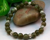 Labradorite Rounds Stretch Bracelet