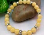 Yellow Serpentine Rounds Stretch Bracelet