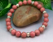 Rhodonite Rounds Stretch Bracelet