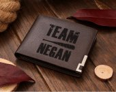 The Walking Dead Team Negan Leather Wallet