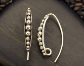 Sterling Silver Ear Hooks with Granulation
