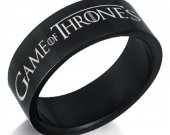 Game of Thrones Black Stainless Steel Ring