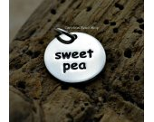 Sterling Silver Sweet Pea Charm - Word Charms