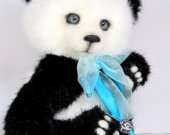 panda Polly ,Teddy Bear, Teddy bear artist,collectible bear, 7.8 inches collectible bear, Very nice, bright and real, panda