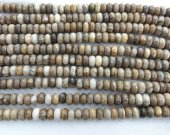 2strands 4-12mm GEM Picture JASPER Beads in Golden Brown and Tan,  Round rondelle abacus faceted Jasper beads