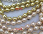 wholesale 6-25mm full strand  Pearl Jewelry white  red golden champagne  Drop Teardrop  peache  Pearl beads jewelry for Make Earrings