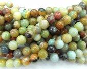 Wholesale 2strands 3-16mm Natural Amazonite Beads Wholesale Gemstones Round Ball Blue Yellow Rainbow Amazonite stone