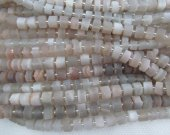 2strands 8-12mm Sunstone Watermelon Quartz   Matted Rondelle Beads Frosted Raw Crystals Gems Heishi Disc Loose Beads Necklace