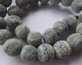 A+ Grade --2stands 8-20mm Lava volcanic gem Round Ball White ivory white royal blue black mixed lava stone beads