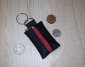 100% Real Genuine Leather Keyring Key Pouch Purse Wallet Coins Money Keychain Handmade