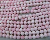 Wholesale 2strands 12-14mm Shell jewelry Pink Round Ball  shell  Beads  for make shell necklace