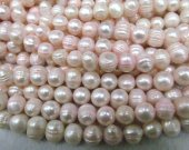 Wholesale 2strands 9-10mm Natural  Pearl  jewelry Pink Round Ball  shell  Beads  for make shell necklace