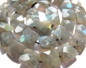 Labradorite Beads Flashy Faceted Square Box Labradorite Jewelry 8-12mm 16inch