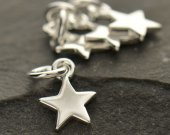 Tiny Sterling Silver Star Charms 10PK