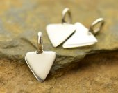Sterling Silver Tiny Triangle Dangle 10PK