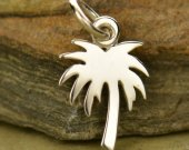 Sterling Silver Cutout Palm Tree Charm