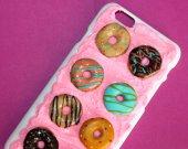 4D DONUTS Phone Case Decoden Phone Case, Decoden iPhone 4, 5/5s, 6/6s, 7/7+ Kawaii Phone, Pie, Decoden Phone case,Kawai