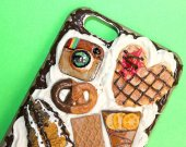 Instagram Cool Sweets Phone Case Decoden Phone Case, Decoden iPhone 4, 5/5s, 6/6s, 7/7+ Kawaii Phone, Pie, Decoden Phone