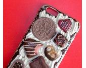 Origina lDecoden iPhone 4, 5/5s, 6/6s, 7/7+ Kawaii Phone, Pie, Decoden Phone case,Kawaii Phone