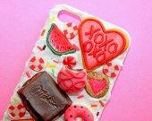 Very original Sweets Phone Case Decoden Phone Case, Decoden iPhone 4, 5/5s, 6/6s, 7/7+ Kawaii Phone, Pie, Decoden Phone