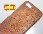 5D Bourbone Phone Case Decoden Phone Case, Decoden iPhone 4, 5/5s, 6/6s, 7/7+ Kawaii Phone, Pie, Decoden Phone case