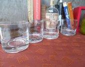 Templeton Rye Whiskey bottle upcycled set (4) rocks glasses Great Gifts Drinking Whiskey Bar Tavern Mancave Groomsman Unique Trendy Upscale