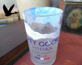 Grey Goose Bottle Upcycled tumbler Great Gifts Mancave Bar Saloon Tavern Home Vodka Lover Wedding Groomsman Unique Trendy Upscale
