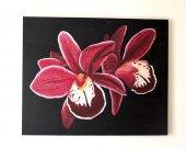 Acrylic Paintıng  Orchıd 39x31 inch