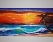 SEA VIEW Acrilik paint 79 inch x 39 inch