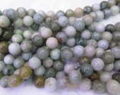 Myanmar Jade BARGAIN  original  Burmese Jadeite Round Bead Jade necklace  4-12mm full strand