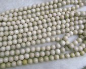 Wholesale 5strands 4-12mm Natural Fossil Beads - Round Ball  Semi Precious Gemstone Beads  Ivory White Jewelry Beads