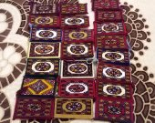 turkmen handmade wool female purse cosmetic