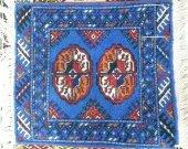 turkmen handmade rug  carpetsmall beautiful rug handwork subjects  vintage by  stunning turkomen Kilim wool carpet Wall