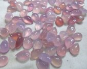 AA + 50pcs 7-35mm chalcedony teardrp drop peach cabochon gemstone green pink red transaparent  agate chalcedony pendant