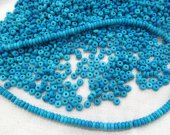 5strands 3-8mm Howlite Turquoise Cabochon Round  rondelle heishi  Multicolor turquoise stone Loose Beads