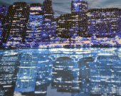 """Night New York"" picture made of beads."