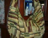 Tapestry bag, green bag, cottton bag, summer bag, tissue bag, shoulder bag