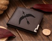 Leather Wallet Super Smash Bros Kid Icarus Bow & Arrow