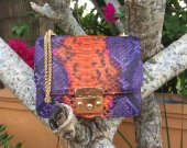 Handmade Genuine Python Shoulder Bag , Women Shoulder Bag, Fashion Shoulder Bag, Ladies small Shoulder Bag, Evening Shoulder Bag