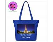 Eiffel Tower Souvenir bag Paris, France  - blue
