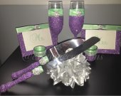 Orchid (Lavender) and Mint 8 pc Wedding Set
