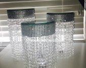 Mirror Top Chandelier Centerpieces 3 piece Set