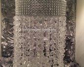 Mirror top chandelier centerpiece