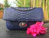 Handmade Genuine Python Shoulder Bag, Women Shoulder Bag, Fashion Shoulder Bag,Ladies Office Style Shoulder Bag, Evening