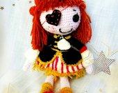 Lalaloopsy Unique gift For kids Soft dolls Handmade toys Stuffed toy Baby Shelf decor Bed doll Crochet Custom Nursery Ideas Sitter