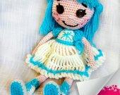 Lalaloopsy Unique gift For kids Soft dolls Handmade toys Stuffed toy Baby Shelf decor Soft sculpture Crochet Custom Nursery Ideas Sitter