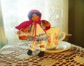 Miniature Crochet Little Red Riding Hood Doll - Amigurumi Doll