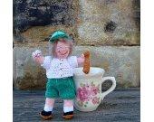 Miniature Crochet Little Boy Doll With Ball and Bat- Amigurumi Doll