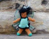 Miniature Crochet Turquoise Fairy/Faery - Amigurumi Doll