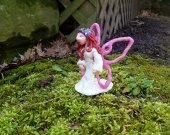 Pink Fairy/Faery Polymer Clay Sculpture